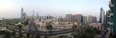 Abu Dhabi Panorama (ToGa Wanderings) Tags: city urban panorama buildings downtown cityscape shot balcony uae middleeast panoramic abudhabi arab environment unitedarabemirates khalidiya