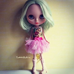 Special order from my lovely sis (Sweet-by-Nim) Tags: square doll dolls dress squareformat blythe blythedoll flowerfairy dolldress dolloutfit dolloutfits iphoneography instagramapp xproii uploaded:by=instagram
