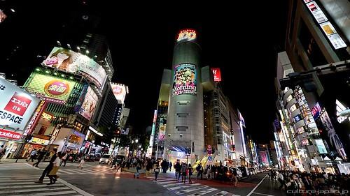 夜晚的澀谷