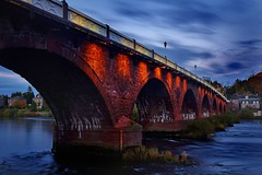 smeatons bridge at dusk (midge 1971) Tags: clouds river scotland dusk sony tay perth alpha smeatonsbridge
