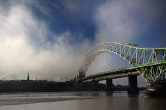 Rolling in........ (Chrisconphoto) Tags: bridge mist fog canon mood sigma runcorn merseyside widnes goodlight