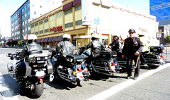 HI THERE (Lulu Vision) Tags: sf sanfrancisco street people police motorcycles sfpd downtownsf