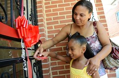 "A Homeowner with Daughter Cut the Ribbon to Their New Home • <a style=""font-size:0.8em;"" href=""http://www.flickr.com/photos/89365820@N03/8135823141/"" target=""_blank"">View on Flickr</a>"
