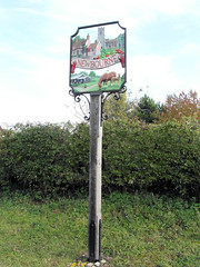 Newbourne Village Sign (The original SimonB) Tags: sign suffolk october samsung 2012 villagesign newbourne autumnul wb690