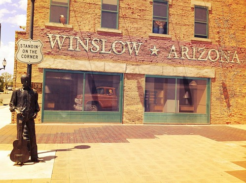 "Standing on the Corner in Winslow Arizona • <a style=""font-size:0.8em;"" href=""http://www.flickr.com/photos/20810644@N05/8142809390/"" target=""_blank"">View on Flickr</a>"