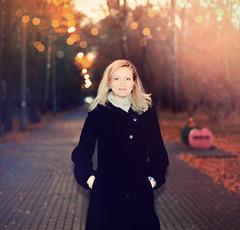 nasty (Spaco0m) Tags: autumn color film girl beautiful 50mm nikon warm superia fujifilm n80