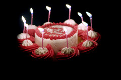 Cupcakes please (Lavonte) Tags: birthday fall cake xt 50mm candles cupcake f18