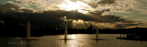 Rays and  fountains