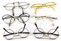 L6. Six Pairs of Vintage French and Designer Glasses