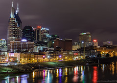 Nashville Skyline (dixiephotogirl(Cynthia)) Tags: usa night tn nashville nashvilleskyline cynthiawalkerphotography