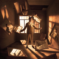 The Discovery of Oneself (Rob Woodcox) Tags: light red inspiration abandoned oklahoma beauty night reflections hotel shadows exploring magic deep mirrors surreal levitation roadtrip thoughts perryoklahoma zackahern robwoodcox robwoodcoxphotography