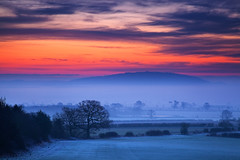 Cool Blue (Natasha Bridges) Tags: morning trees winter mist clouds sunrise countryside lowlight shropshire fields wrekin
