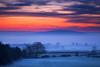 Cool Blue (Natasha Bridges) Tags: morning trees winter mist clouds sunrise countryside lowlight shropshire fields wrekin