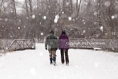 2013:365:022 (Lisa-S) Tags: bridge winter portrait snow ontario canada walking couple lisas flash lisa donald snowing 365 day22 brampton invited 1756 day22365 201301 3652013 flickropen 365the2013edition copyright2013lisastokes getty2013 22jan13 getty20130129