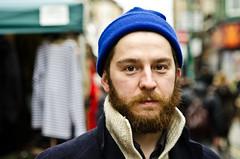 Matt (88/100) Explored (drmaccon) Tags: street portrait beard nikon market streetportrait naturallight stranger calm bluehat 100strangers d5100