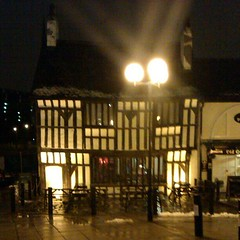 Photo of Welcoming site on a dreary night #oldqueenshead