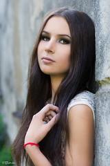 Lidita (salas-3) Tags: girl portrait photography photoshoot headshot beautiful wall hair face pose nikon 50 50mm light