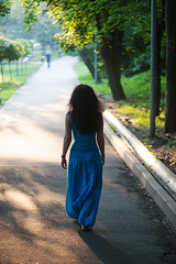 IMG_26051 (saver_ag) Tags: park blue portrait people green nature female back outdoor