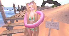 Floaty (orchid.bolissima) Tags: cute kawaii kawaiifashion slblog secondlifeblog fashionblog girly mint pigtails starfish icecreamphone float beachy beach goggles {song} belleza ayashi secondlife sl