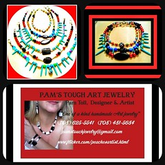 Pams Touch Art Jewerly POSTER (PAMS TOUCH ART JEWELRY DESIGNS) Tags: picmonkey red hot jewelry by pams touch art jewerly