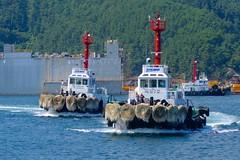 DSME tugs at work (Ugborough Exile) Tags: tugs ships sony rx100iv okpo geoje dsme korea 2016