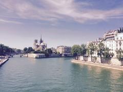 IMG_0319 (cyrielleblanchard) Tags: outside street notredame paris cathédrale water seine quaideseine view