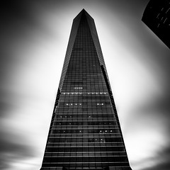 Isolated Vision Series : Gravitas (Substant Photography (Micrawb)) Tags: architecture longexposure blackwhite fineart abstract building city skyscraper blacksky futuristic sky madrid urban naturallight nd filter spain square