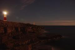 Portland Bil Lighthouse (Sarah Marston) Tags: dorset portlandbill lighthouse sea rocks stars sony alpha a65 august 2016 night lensflare