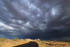 I can't get you out of my head (alideniese) Tags: canyonlands canyonlandsnationalpark utah usa landscape sky clouds storm grey contrast rocks road roadtrip colour