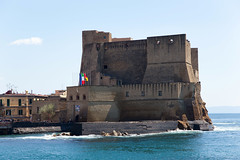 Castel dell'Ovo, Naples, Italy (chrisdingsdale) Tags: bay campania castle coastline famous harbour historic italy mediterranean naples old ovo sea town travel water architecture buildind city coast cove europe fortress heritage italian landmark napoli neapolitan ocean panorama quay romantic seascape sightseeing background blue cloud dell harbor landscape light romatntic stones sunny travelling vacation waves