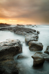 Mengening Cloudy Twilight (cokdesmara) Tags: twilight dusk cloudy sky mengening mengeningbeach tabanan bali indonesia nusantara beach seashore shore seaside coast nature outdoor landscape seascape beachscape longexposure slowshutter photoshoot photography sea rock water