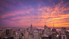 Manhattan Sunset (3dRabbit) Tags: manhattan ny nyc usa sungjinahn canon wide sunset sun building city dramatic tall nature landscape skyline sky outdoor cloud dusk evening glory architecture panorama