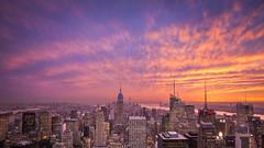 Manhattan Sunset (3dRabbit) Tags: manhattan ny nyc usa sungjinahn canon wide sunset sun building city dramatic tall nature landscape