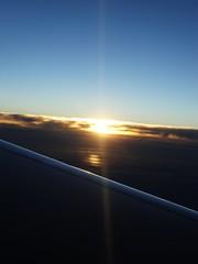 DSC09737 (becca__elizabeth) Tags: sun sunset fade fading light plane sky clouds silver lining love stunning summer adventures travel