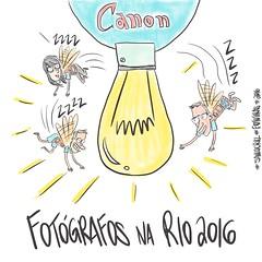 fotografos na Rio2016 (Saulo Cruz) Tags: canon canonbr canoncps rio2016 fotgrafo moscas fly cartoon charge draw desenho photographers fotgrafos photography fotografia