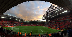 Sunset at Anfield (lcfcian1) Tags: liverpool fc leicester city anfield football sport merseyside epl bpl premier league liverpoolfc leicestercity liverpoolvleicester liverpoolvleicestercity lfc lcfc sunset sky dusk pano panorama panoramic sun cloud kop