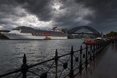 Carnival spirit- Sydney harbour (benpearse) Tags: carnival spirit cruise ship sydney harbour nsw australia ben pearse boat september 2016 newsouthwales
