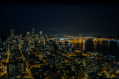 Seattle-dsc-B-0046 (pchida) Tags: landscape architecture skyline downtown seattle greatwheel nightview underlights buildings awesome night nightphotography photography nikonphotography d5100 d5100nikon