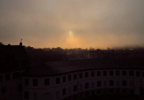 Meiningen - misty sunrise