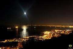 La lune illumine la baie d'Alger (Ath Salem) Tags: algrie algeria algiers alger nuit light night glise basilique notredame dafrique village cleste bouzarah zghara bab eloued lune moon baie       bologhine