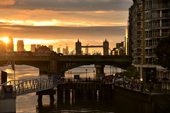 London Tower Bridge (pentlandpirate) Tags: london bridge tower thames uk greatbritain tourists sunrise dawn marathon walk southbank city river