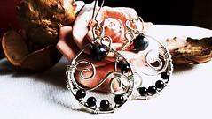 #Orecchini a goccia #handmade fatti a mano #wireart #wireweaving #rame placcato #argento #ossidiana fiocco di neve #onice #bohochic #romantici #eleganti #regalo per #donna #ragazza #dark #goth #pagan #wicca #wiccan #fantasy #romantic #elegant #etsyitaliat (wiredonyx) Tags: wireweaving etsyitaliateam pagan bohochic handmade onice regalo goth romantici elegant orecchini ossidiana rame ragazza fantasy wicca romantic dark eleganti argento donna wiccan wireart