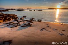 Rosbeg Sunset (Francis Cassidy) Tags: ireland sunset beach landscape golden rocks paisaje beachsunset donegal goldenhour irlanda rosbeg goldenlight donegalbay sunsetcolors sunsetcolours franciscassidy
