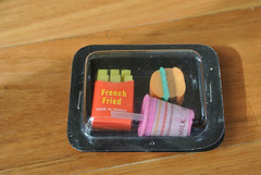 Burger, Fries and Milkshake Erasers (jadedoz) Tags: cup vintage french drink burger taiwan away chips retro fries 80s hamburger take 90s erasers rubbers