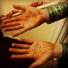 Henna and bangles.