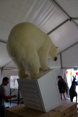 Last piece of ice in the fridge (Val in Sydney) Tags: bear sculpture art ice beach animal last fridge sydney australia tent nsw rod sculpturebythesea polar piece mcrae wonders 2012 the tamarama sxsbondi
