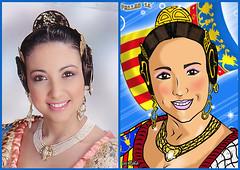 7 (oroyplata.) Tags: portrait art valencia digital comic y retratos similar bandera popular paella antes barraca despus fallera comparation peineta