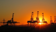 Port of Long Beach sunset (das_miller) Tags: desktop sunset crane background longbeach
