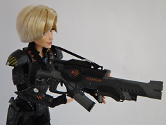 Sergeant Calhoun LE 17'' Doll - Handling Weapons - Aiming Rifle - Midrange Left Front View (drj1828) Tags: doll personal calhoun limitededition weapons sgt disneystore sergeant 17inch deboxed wreckitralph