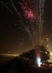 Diwali 2012 (sharad_2007) Tags: india festival night point necklace colorful fireworks religion culture queens diwali mumbai hindu crackers festivaloflights 2012 deepawali marinedrive nariman